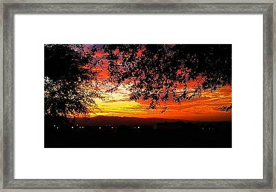 Sunrise Framed Print by Chris Tarpening