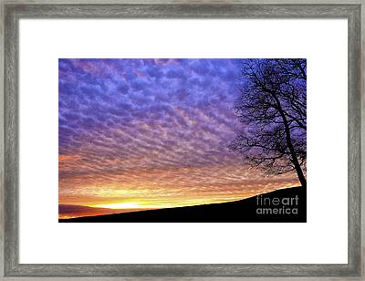 Sunrise Drama Framed Print by Thomas R Fletcher