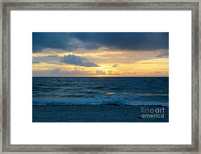 Sunrise In Deerfield Beach Framed Print