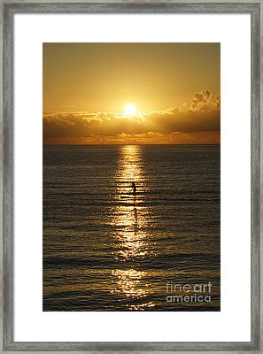 Sunrise In Florida Riviera Framed Print