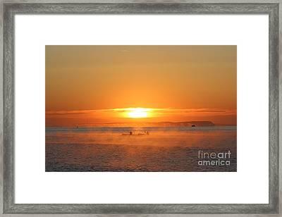 Sunrise Framed Print by Katy Mei