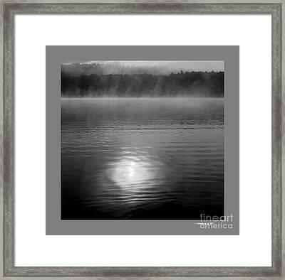 Sunrise Over Lower Lake Rhoda Framed Print