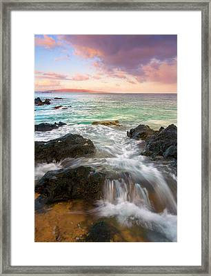 Sunrise Surge Framed Print