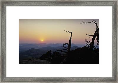 Sunset From Mt Scott Framed Print