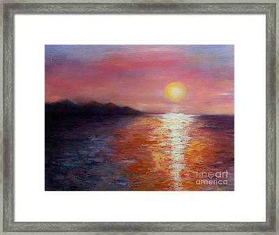 Sunset In Ixtapa Framed Print by Marlene Book