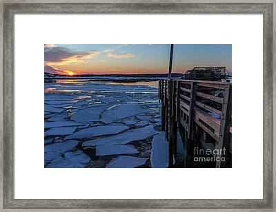 Sunset In Pine Point Framed Print by Joe Faragalli