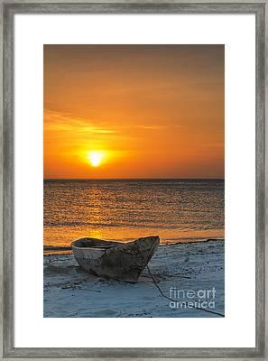 Sunset In Zanzibar - Kendwa Beach Framed Print by Pier Giorgio Mariani