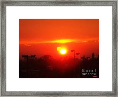 Framed Print featuring the photograph Sunset by Jasna Dragun