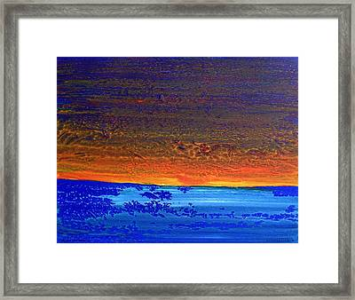 Sunset 2012 Framed Print
