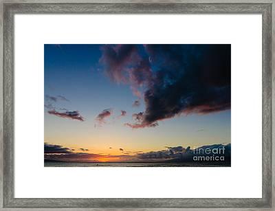 Sunset On Kaanapali Maui Hawaii Usa Framed Print