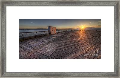 Sunset Over Puget Sound Framed Print by Twenty Two North Photography
