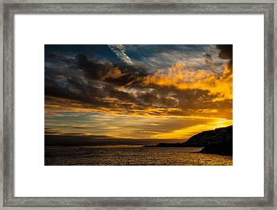 Sunset Over The Ocean  Framed Print
