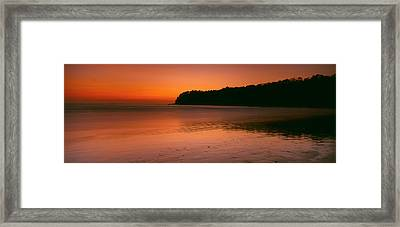 Sunset Over The Sea, Goa, India Framed Print by Panoramic Images