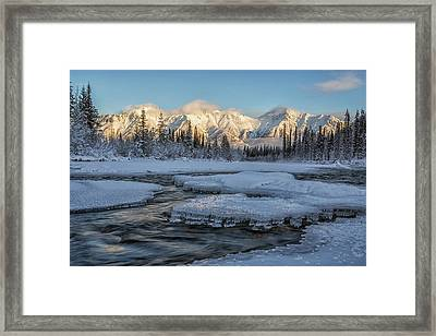 Sunset Over The Wheaton River Framed Print by Robert Postma