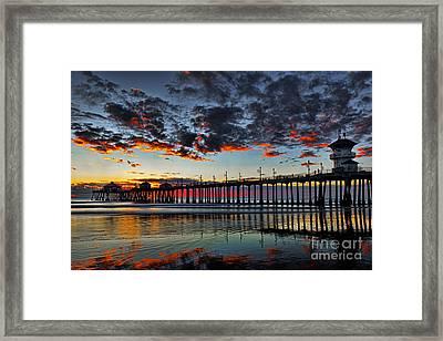 Sunset Framed Print by Peter Dang