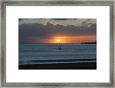Sunset Sail Framed Print