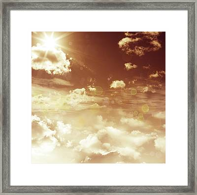 Sunshine Framed Print by Les Cunliffe
