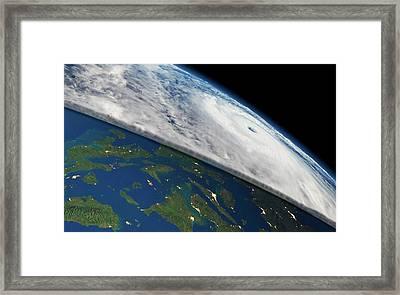 Super Typhoon Haiyan Framed Print by Planetary Visions/nasa-jpl/noaa