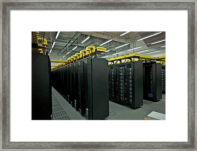 Supermuc Supercomputer Framed Print