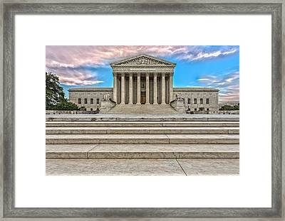 Framed Print featuring the photograph Supreme Court by Peter Lakomy