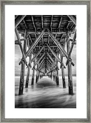 Framed Print featuring the photograph Surf City Pier by Ben Shields