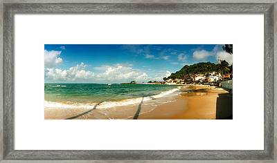 Surf On The Beach, Morro De Sao Paulo Framed Print