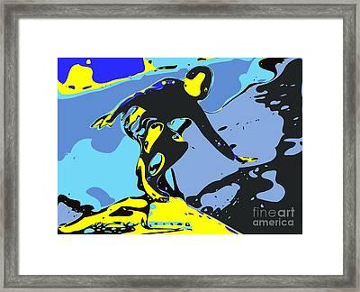 Surfer Framed Print by Chris Butler