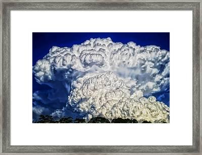 Surreal Cloud Formation Framed Print