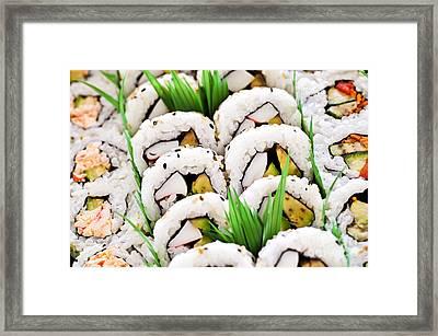 Sushi Platter Framed Print by Elena Elisseeva