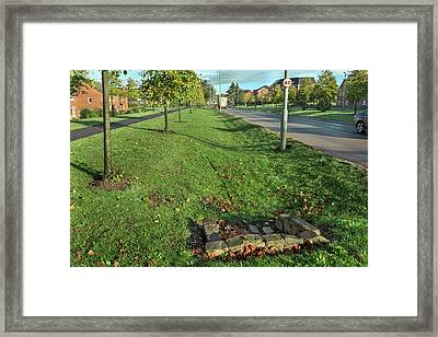 Sustainable Urban Drainage System Framed Print by Simon Booth