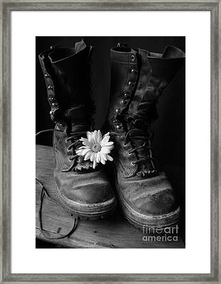 Sweat And Fire Worn Framed Print by Kerri Mortenson