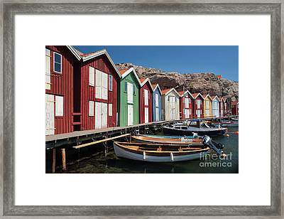 Swedish Fishing Village Framed Print