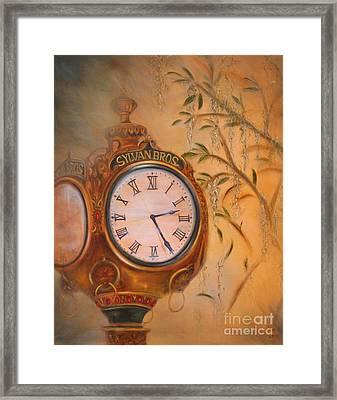 Sylvan's Clock Framed Print