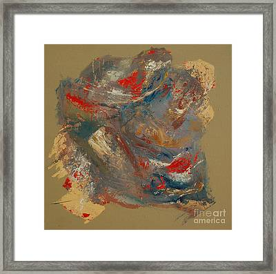 Framed Print featuring the painting Syncopation 2 by Mini Arora