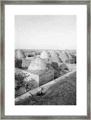 Syria Beehive Village Framed Print by Granger
