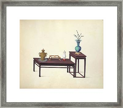 Tables And Ornaments Framed Print by British Library