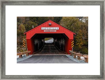 Taftsville Covered Bridge Vermont Framed Print by Edward Fielding