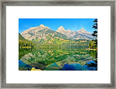 Taggart Lake Framed Print by Greg Norrell
