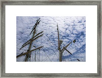 Tall Ship Mast Framed Print by Dale Powell