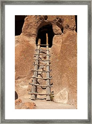 Talus House Front Door Bandelier National Monument Framed Print