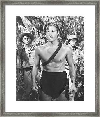 Tarzan And The Slave Girl, Lex Barker Framed Print by Everett