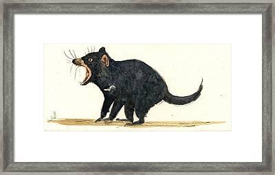 Tasmanian Devil Framed Print by Juan  Bosco