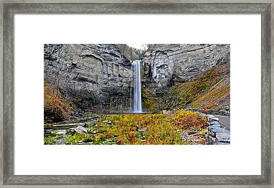 Taughannock Falls Framed Print by Frozen in Time Fine Art Photography