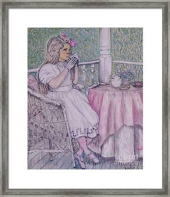 Tea Time For Alexis Framed Print