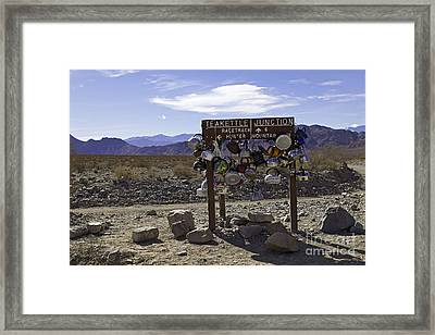 Teakettle Junction Death Valley Framed Print by Jerry Fornarotto
