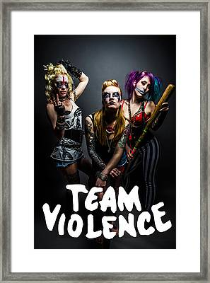 Team Violence Framed Print by Kyle James-Patrick