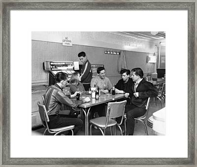 Teenagers Hanging Out Framed Print by Underwood Archives