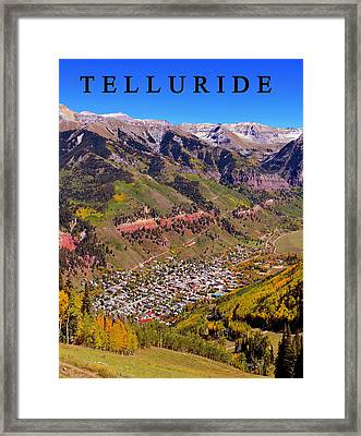 Telluride Framed Print by David Lee Thompson