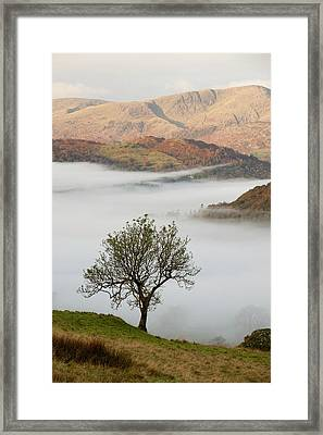 Temperature Inversion Over Ambleside Framed Print by Ashley Cooper