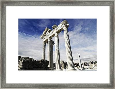 Temple Of Apollo In Side Framed Print